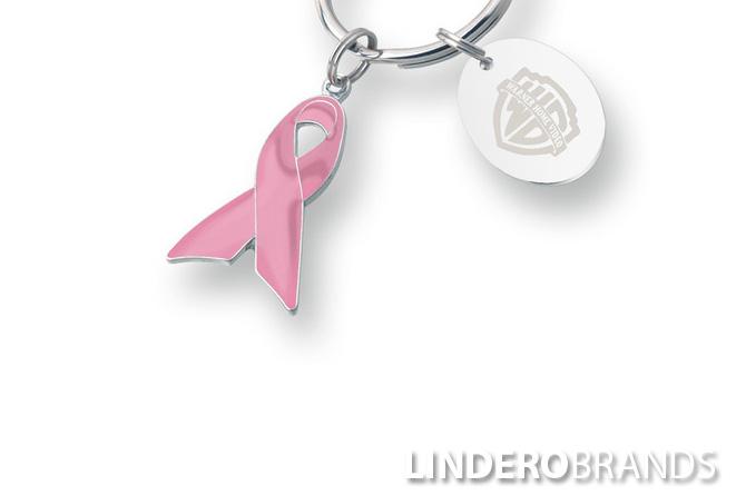 Pink Ribbon Awareness Keychain