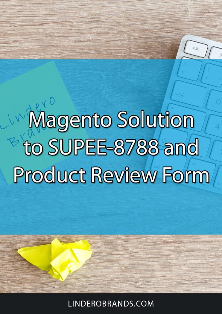 Magento Solution to SUPEE-8788 and Product Review Form