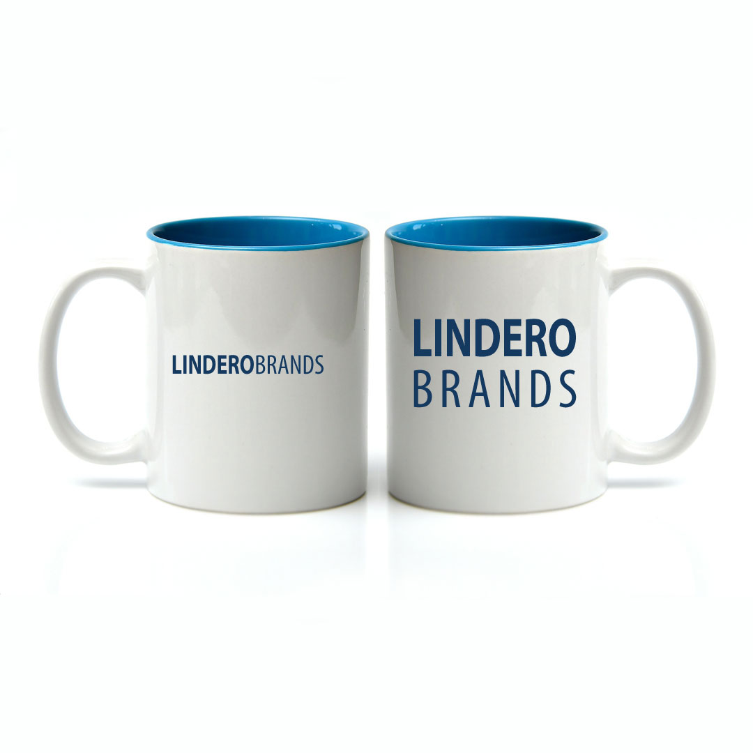 Linear vs Stacked Logo on a Mug