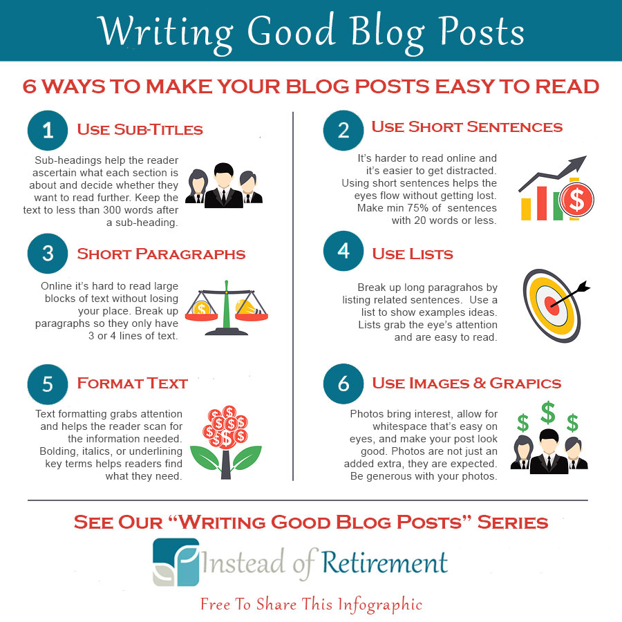 6 Ways to Make Blog Posts Easy to Read