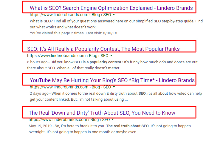 SEO Title in Google Search