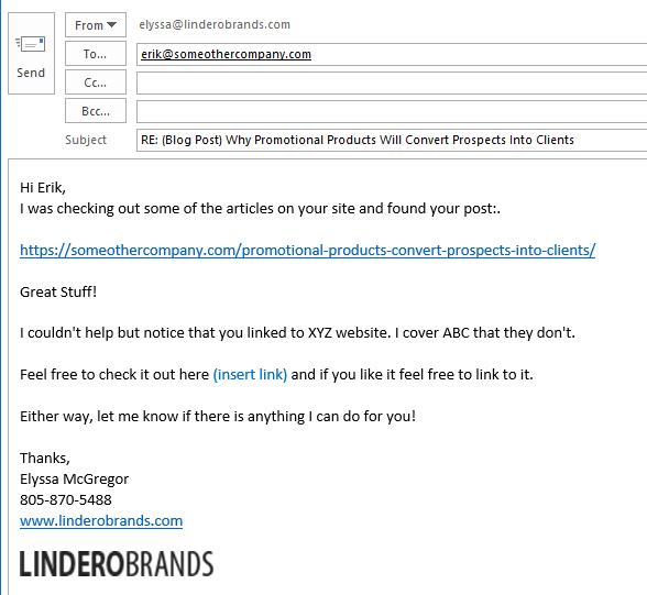 Build Backlink Email