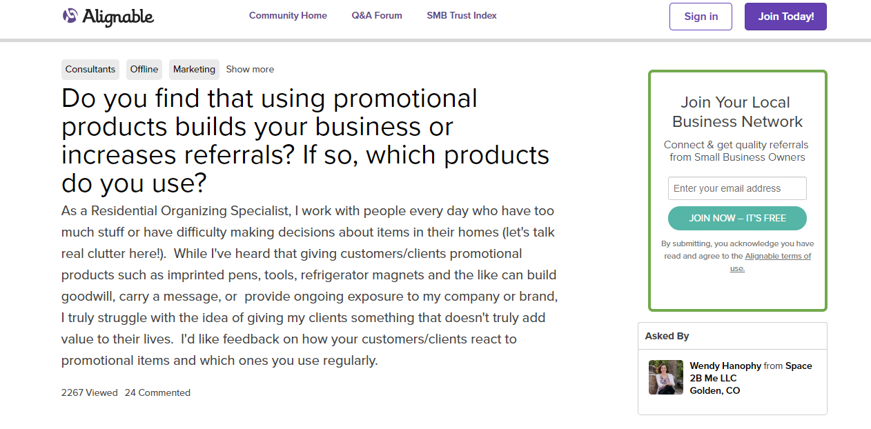 Do promotional products increase business referrals?