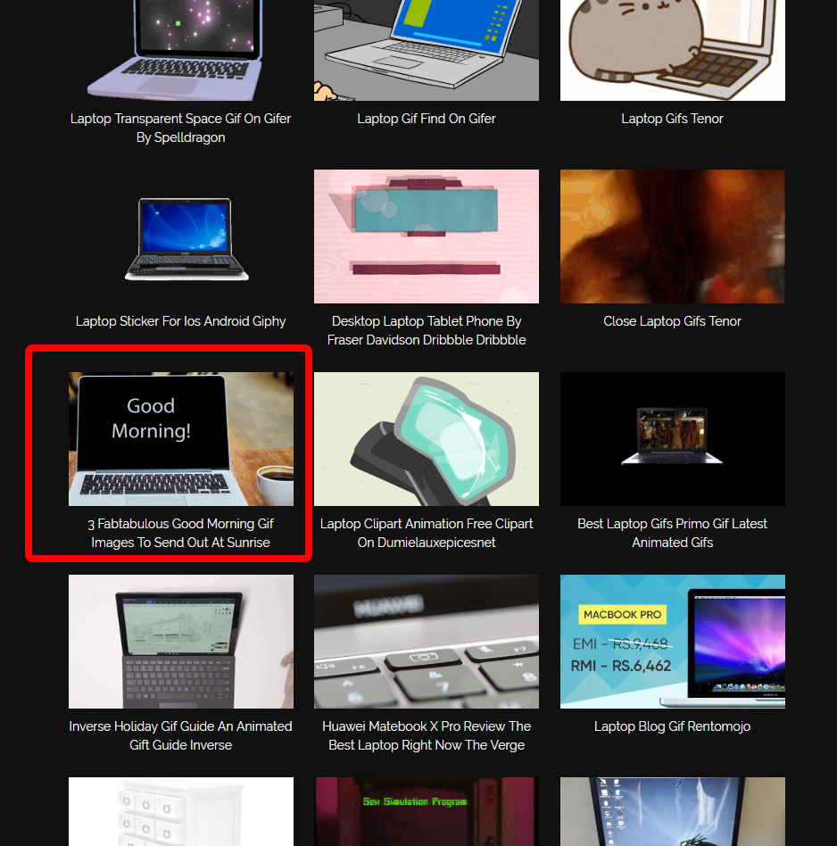 GIF Image Backlink
