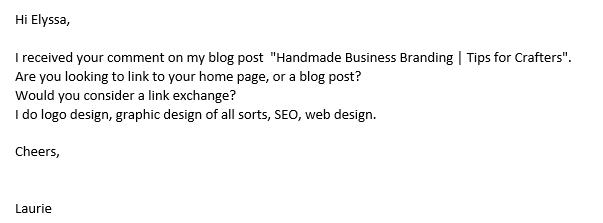 SEO Campaign Blog Comment Return Email